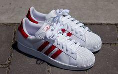 adidas Originals Superstar 2 | White & Light Scarlet Red - EU Kicks: Sneaker Magazine