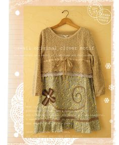 dress from sweater lace and fabric