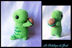 Dino Amigurumi By Cristell Justicia/La calabaza de Jack ->Follow my work: ~Facebook: https://www.facebook.com/LaCalabazaDeJack ~Tumblr: http://lacalabazadejack.tumblr.com/ ~Deviantart: cristell15.deviantart.com   #Dino #Dinosaur #Green #Burguer #Cute #Kawaii #Little #Yarn #Crochet #Knitting #Pattern #Plush #Toy #Doll #Animal #Amigurumi #Handmade #Craft
