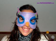 mascaras y antifaces animales, búho myvioletdesigns.com