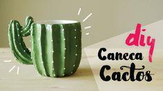 Caneca de Cactos + cappuccino feito em casa para presentear seu amor nesse dia dos namorado. Cactus mug + homemade cappuccino perfect as a gift for someone s...
