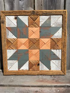 Fathers Choice quilt block, recycled barn wood, up Barn Wood Projects, Reclaimed Wood Projects, Salvaged Wood, Pallet Projects, Woodworking Projects, Barn Quilt Designs, Barn Quilt Patterns, Block Patterns, Wood Pallets