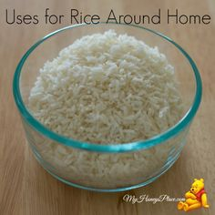 Uses for Rice Around Home. Great idea to use to clean milk bottles and other containers you can't reach your hand into.