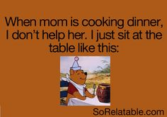 I laughed way to hard at this. Also this is how I sit anytime I'm about to eat :)