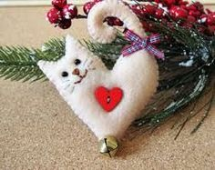 Image result for woven felt heart with cat