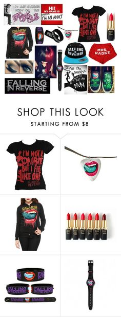 """""""OOTD 22: Falling In Reverse"""" by bandsarebae2908 ❤ liked on Polyvore featuring L'Oréal Paris"""