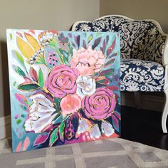 Laura Dro's new collection of floral paintings   www.lauradrodesigns.com
