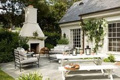 Image result for OUTDOOR FIREPLACE THAT BACKS UP TO FAMILY ROOM FIREPLACE