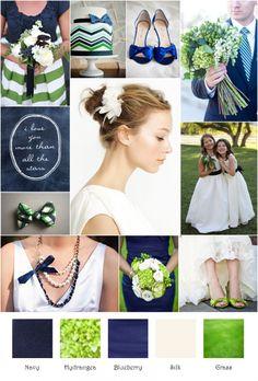 cobalt or navy bridesmaids dresses? :  wedding bridesmaids dress color Inspriation Board
