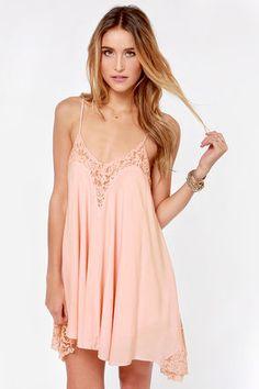 Laced Night Pink Lace Dress