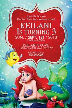 Download Free Printable Ariel The Little Mermaid Invitation - Ariel birthday invitations printable
