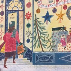 Emily Sutton illustration from 'The Christmas Eve Tree' by Delia Huddy