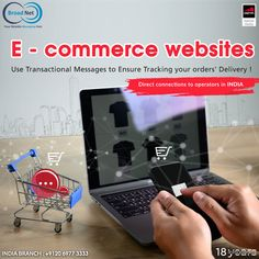 E - commerce websites use transactional messages to ensure tracking your orders' delivery ! Email: sales@broadnet.me India branch: +9120 6977 3333 #SMS #Ecommerce #SMSmarketing #India #Bulksmsprovider #Marketingideas #NewDelhi Android Application Development, Ecommerce, Web Design, Delivery, Messages, Marketing, Website, Design Web