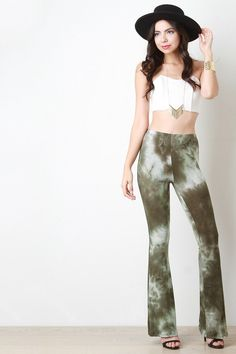 Cloudy Tie Dye Bell Bottom Pants – Style Lavish