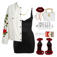 """Feel the pain"" by vri0t ❤ liked on Polyvore featuring M&Co, Yves Saint Laurent, Off-White, Lime Crime and Dolce&Gabbana"