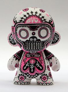 "'Babelgum' Custom 4"" Mini Munny (by Hugh Rose AKA DRED (ReadersWives Collective))    www.hughrose.co.uk"