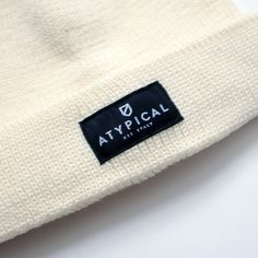 Atypical Cream Beanie Detail - 100% pure new wool