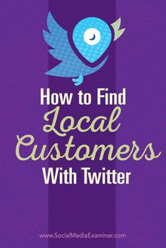 Do you use Twitter for your business?  There are tactics you can use to improve the visibility of your local business and identify potential leads.  In this post youll discover three ways to connect with local customers on Twitter. Via @smexaminer