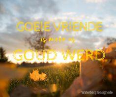 Afrikaans:  Goeie vriende is meer as goud werd
