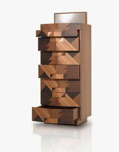 Inlaid wood sideboard