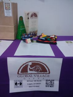 Global Village Gifts gives back! We are not only dedicated to supporting economic growth around the world, but also within our own community. Here is a picture of the items we donated to Loaves and Fishes Community Meal's silent auction. This organization nourishes the Logan community with free meals.
