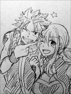 Fairy Tail - Natsu and Lucy - Sketch