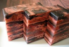 Soap for Men - Spiced Mahogany with Shea Butter and Olive Oil - Glycerin Soap. $6.00, via Etsy.