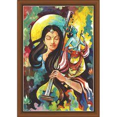 Lord Shiva Painting, Krishna Painting, Krishna Art, Radhe Krishna, Lord Krishna, Buddha Painting, Shree Krishna, Indian Art Paintings, Unique Paintings