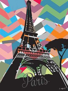 Quadro Paris #popart #paris