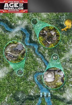 Star Wars, Age of Rebellion roleplaying game map 1 by henning.deviantart.com on @DeviantArt