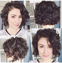 Bob Hairstyles 30 New Short Curly Hairstyles for Women 2019 Short Haircuts For Women With Curly Hair Curly Hair Styles, Short Curly Hairstyles For Women, Curly Hair With Bangs, Short Hair Cuts For Women, Curly Bob Hairstyles, Hairstyles With Bangs, Trendy Hairstyles, Thick Curly Haircuts, Short Hair For Curly Hair
