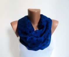 Navy Blue Anker Schal /Traditional Schal /Scarves von WorldScarf