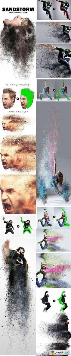 SandStorm - Photoshop Action #PhotoshopIdeas
