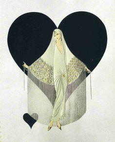 June Bride by Erté - one of my faaaavorite artist. Love Erté