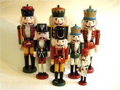 NUTCRACKER Solidly Made Brightly Painted VINTAGE 15 in Wooden CHRISTMAS Figurine in Excellent Working Order Ready to Brighten Your Holiday. $19.00, via Etsy.