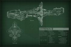 EVE Online Hyperion Schematics by Titch-IX.deviantart.com on @deviantART