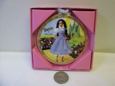 BARBIE AS DOROTHY PORCELAIN HANGING ORNAMENT BY ENESCO #7683 BOX AND CERTIFICATE