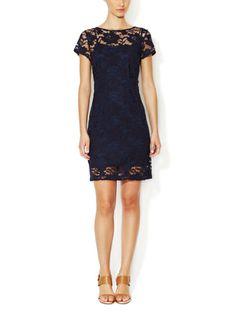 Lace Boatneck Sheath Dress