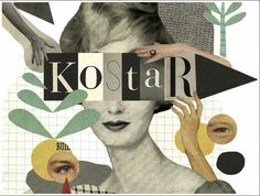 Kostar Magazine ,Mathilde Aubier. The artist has used collage to create this. They have got fonts of Kostar in different sizes and also aligned images of eyes and hands.  I have selected this image because it is weird, as the shows the woman possibly drowning.