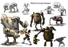 Robot Concept Design by anthonysarts.deviantart.com on @deviantART