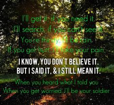 Soldier- Gavin Degraw lyrics