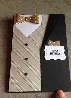 Best Craft Ideas For Men Masculine Cards Ideas - Kaarten Maken Bday Cards, Birthday Cards For Men, Handmade Birthday Cards, Greeting Cards Handmade, Birthday Gifts, Men Birthday, Father Birthday, 60 Birthday Card, Birthday Ideas