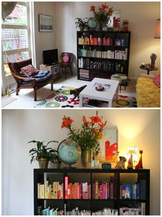 Expedit bookcase styled