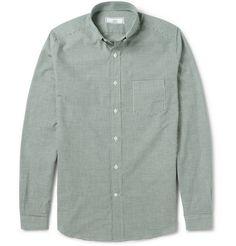 AMI Slim-Fit Gingham Check Cotton Shirt     | MR PORTER