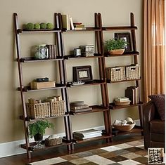I already have bookshelves like this. I like how they look in this living room.