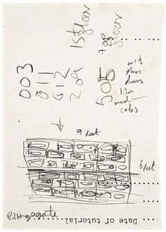 Damien Hirst  Study for Isolated Elements Swimming in the Same Direction for the Purpose of Understanding  1989  Pencil on paper  106 x 73 mm | 4.2 x 2.9 in