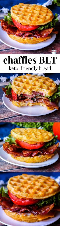 Chaffles BLT & Keto Bread Chaffles are a delicious keto alternative to bread & a low carb waffle that you can use to make keto-friendly sandwiches, desserts, dinners and more! The post Chaffles BLT & Keto Bread appeared first on Gastronomy and Culinary. Keto Foods, Ketogenic Recipes, Low Carb Recipes, Diet Recipes, Cooking Recipes, Healthy Recipes, Ketogenic Diet, Desserts Keto, Recipes