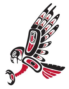 american indian pictures of hawks Native Symbols, Indian Symbols, Native Art, Native American Totem, Native American Design, Native Design, Haida Tattoo, Loon Tattoo, Falke Tattoo