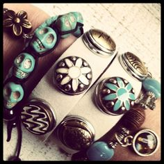 Leren armbanden drukkers | Idhuna Jewels - Fashion sieraden