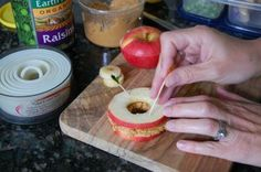 In case you've seen these apple sandwiches around, but have no idea how to make them...this is for you! First, you'll need... The Supplies Required Supplie